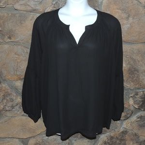 NY collection women black blouse plus size 3X